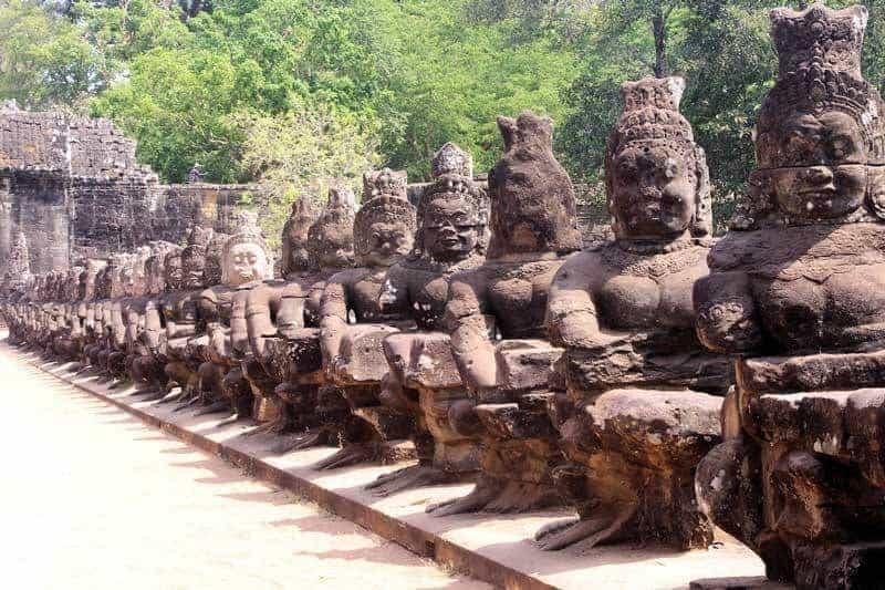 Angkor Thom: Tomb Raiders and Demons' Tug-of-War