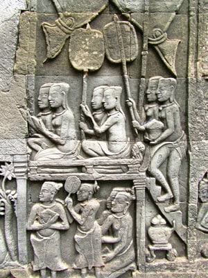 Bayon Temple bas rellief carvings