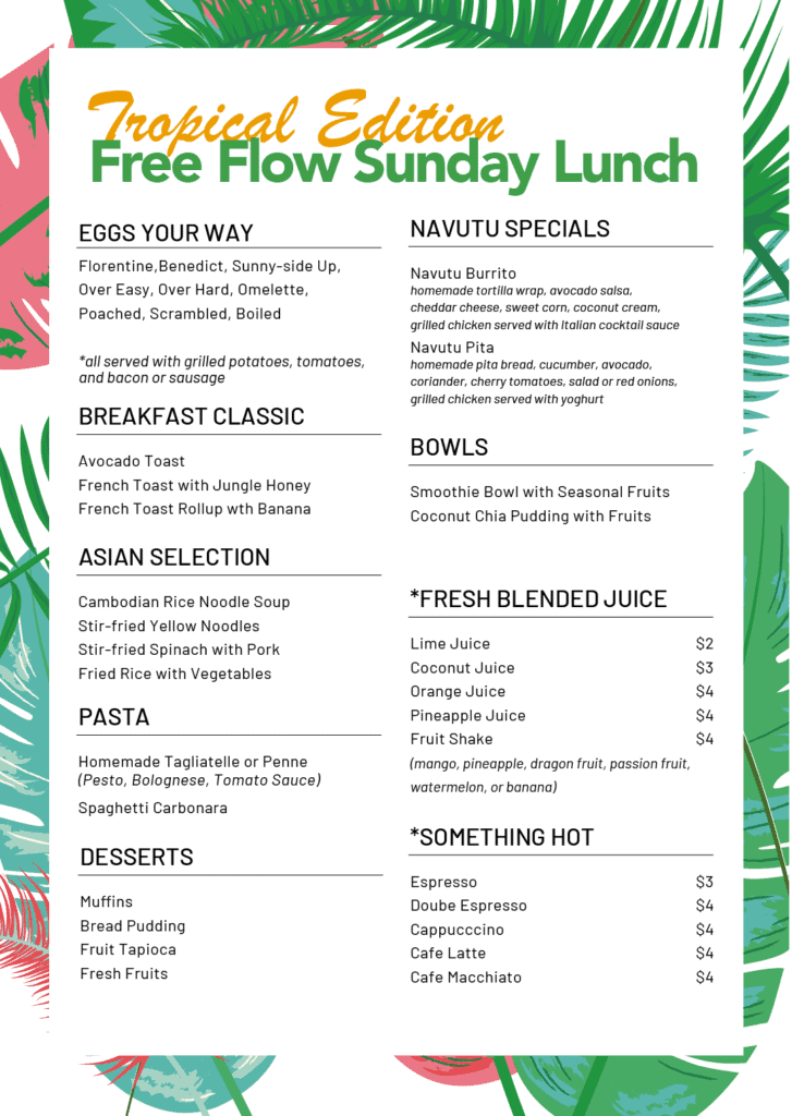 Free Flow Sunday Lunch at Navutu Dreams Siem Reap